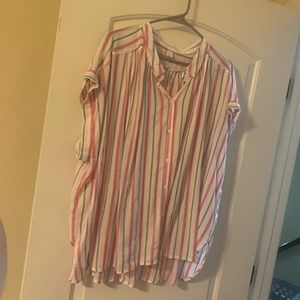 Stripped Collared Shirt